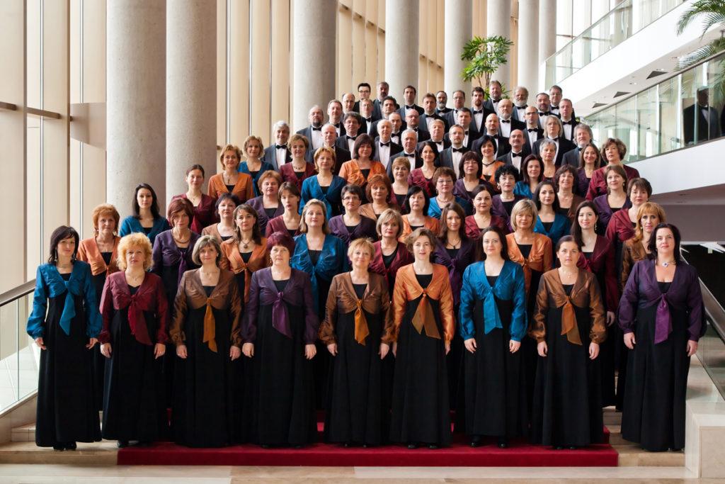 A Nemzeti Énekkar fellépése Győrben, az Audi Arénában