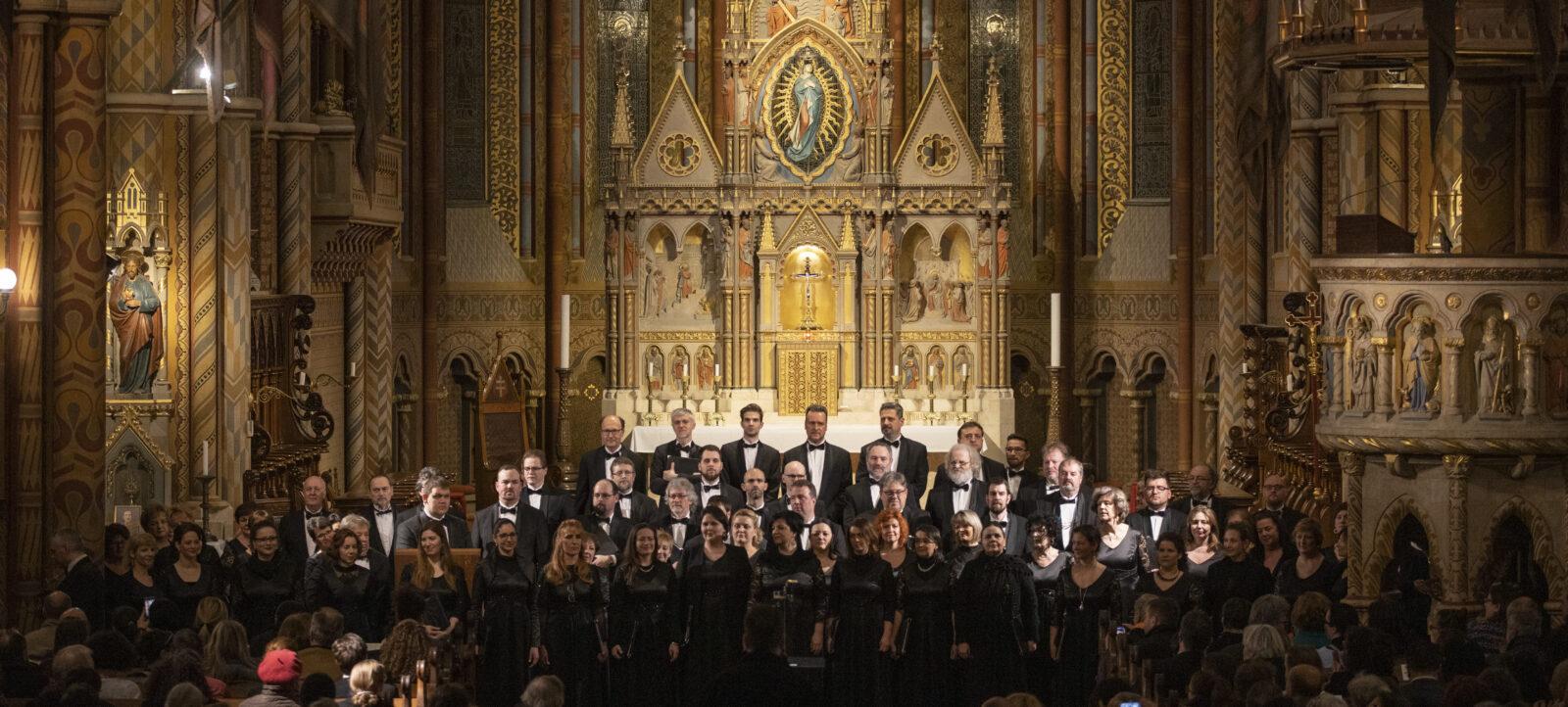 A Nemzeti Énekkar hangversenye a Mátyás-templomban
